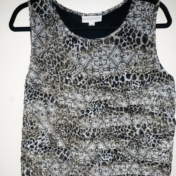 Dana Buchman Tops - Leopard Printed Top